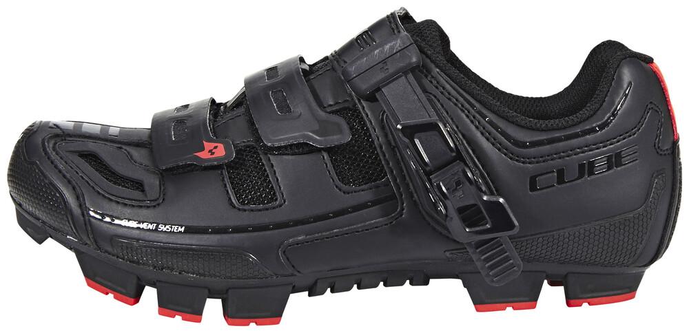 Cube Noir Chaussures De Vélo Avec Velcro Pour Les Hommes GhH5by